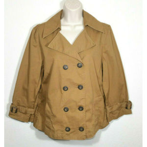 OLD NAVY Thin Peacoat Jacket Belted Sleeves 2953E1